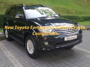 New Toyota Fortuner vs Innova Crysta Comparison
