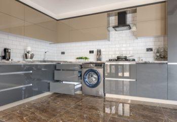 grey kitchen space