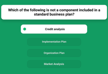 Which Of The Following Is Not A Component Included In A Standard Business Plan_