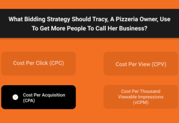 What Bidding Strategy Should Tracy, A Pizzeria Owner, Use To Get More People To Call Her Business
